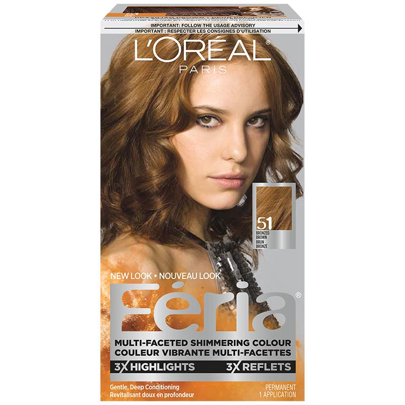 Loreal Feria Hair Colour 51 Bronzed Brown London Drugs