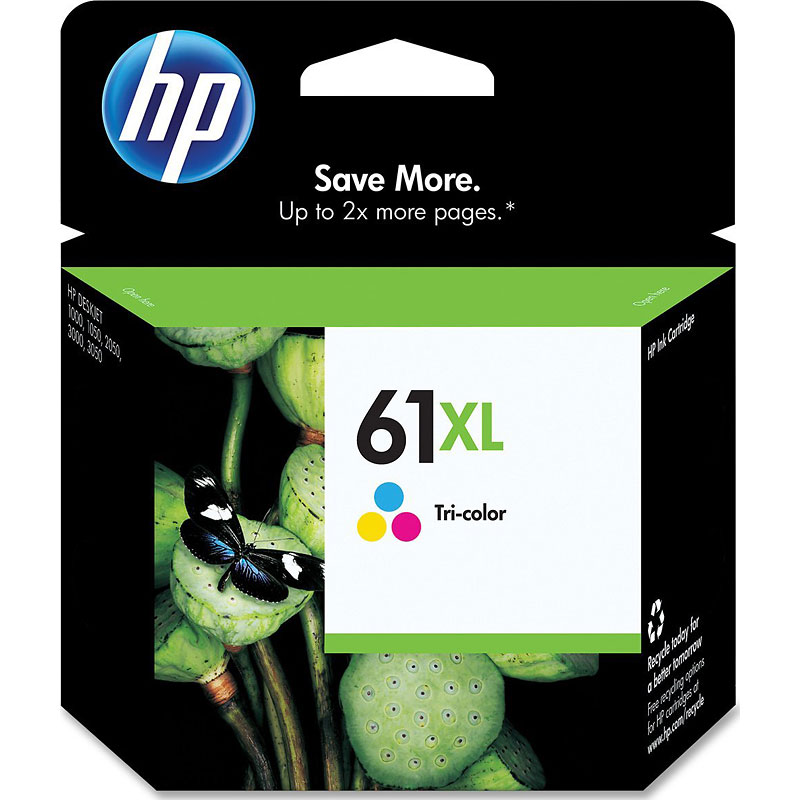 HP 61XL High Yield Ink Cartridge - Tri-Color - CH564WC#140