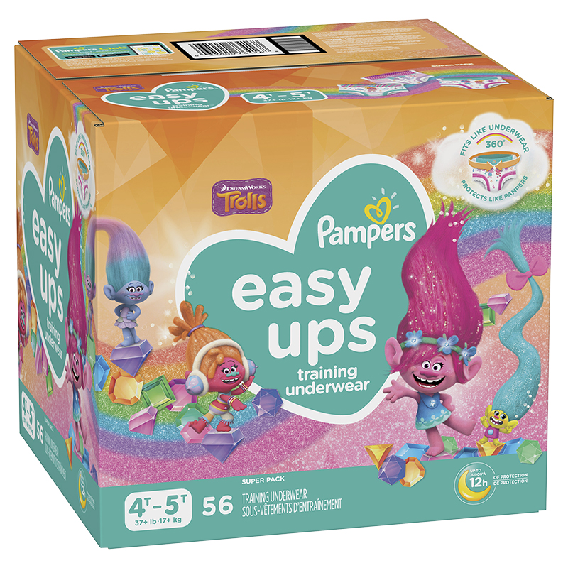 Pampers Easy Ups Training Underwear - 4T/5T - 56ct - Girls