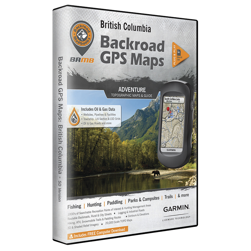Backroad GPS Maps - British Columbia - 02164