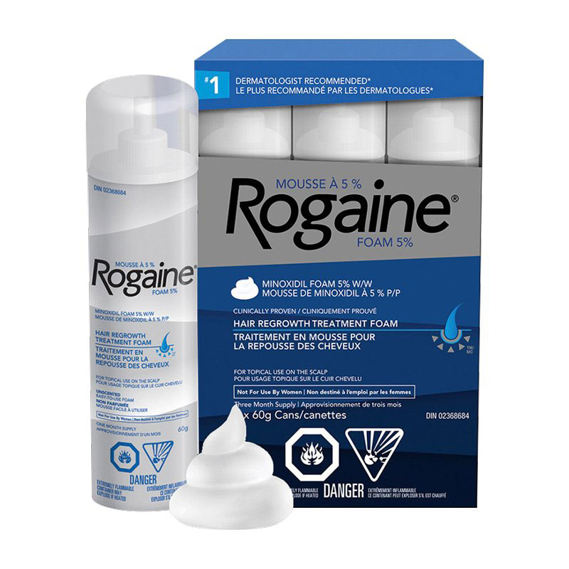 Rogaine Hair Re-growth Foam Treatment for Men - 3 x 60g