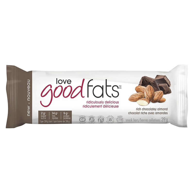 Suzie's Good Fats Snack Bar - Rich Chocolatey Almond - 39g