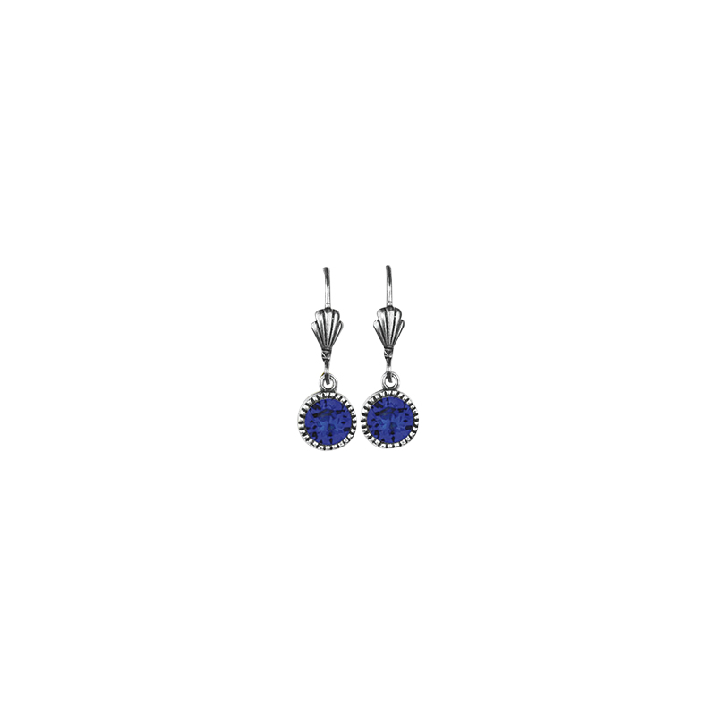 Anne Koplik Drop Earrings - Majestic Blue