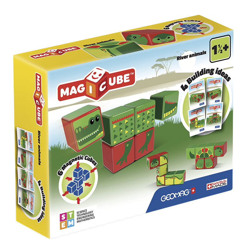 Geomag Magicube River Animals - 6 Piece