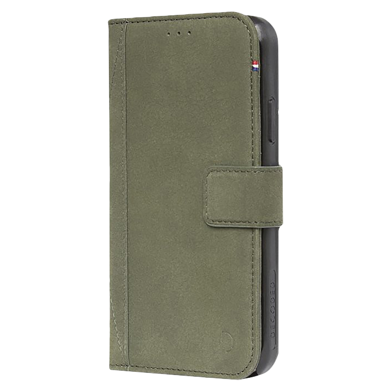 buy online 91441 a9c94 Decoded Leather Wallet Case for iPhone X/Xs - Olive Green - DCD7IPOXWC5ON