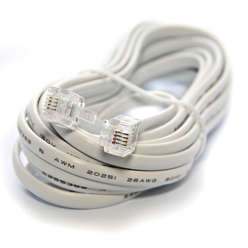 UltraLink Telephone Line Cord Modular Plugs - 12 feet - UHS76WH