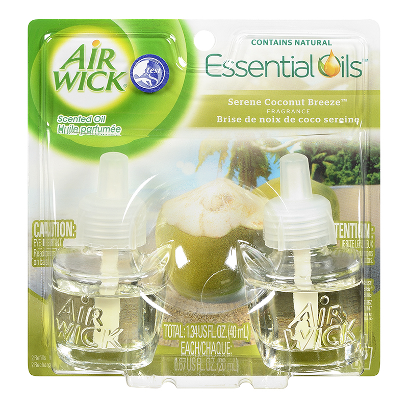 Air Wick Essential Oils Scented Oil Refills - Serene Coconut Breeze - 2x21ml