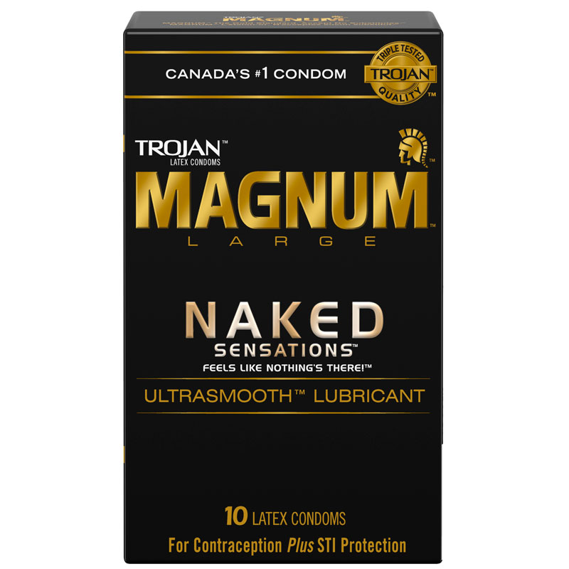 Trojan Magnum Naked Sensations Lubricated Condoms - 10's
