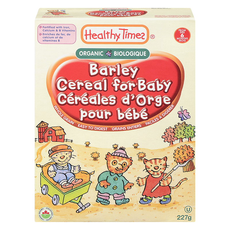 Healthy Times Organic Barley Baby Cereal - 227g