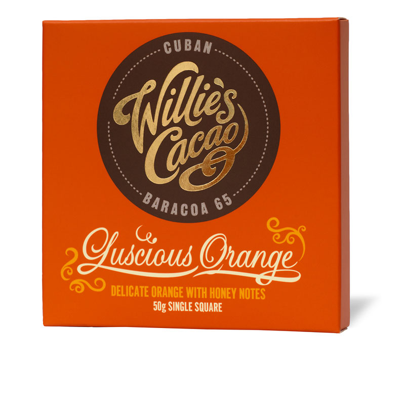 Willie's Cacao Chocolate Bar - Luscious Orange - 50g