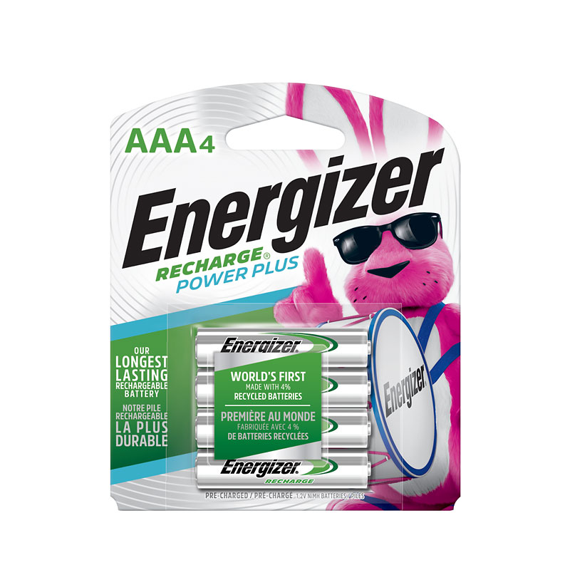 Energizer Nimh AAA Batteries - Rechargeable - 4 pack