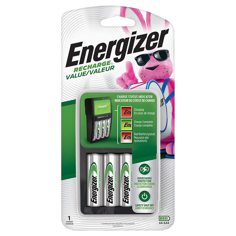 Energizer NiMH Charger with 4AA - CHVCMWB4