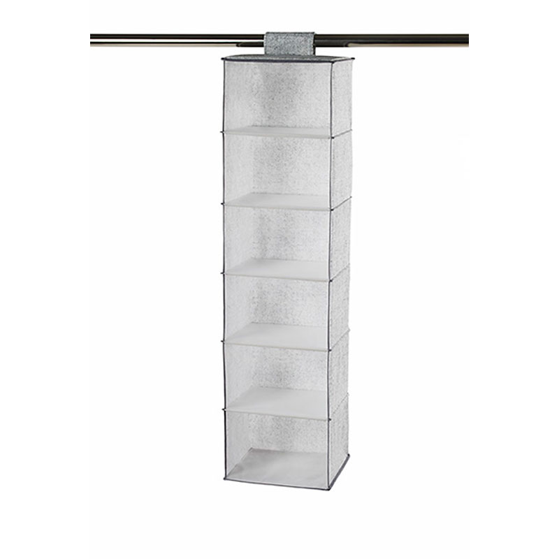 NeatFreak Closet Organizer - Pixel Grey - 6 Shelf