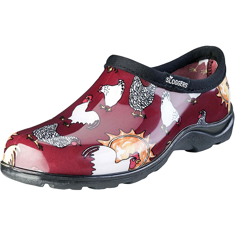 Sloggers Women's Garden Shoes - Chicken Barn Red - Assorted