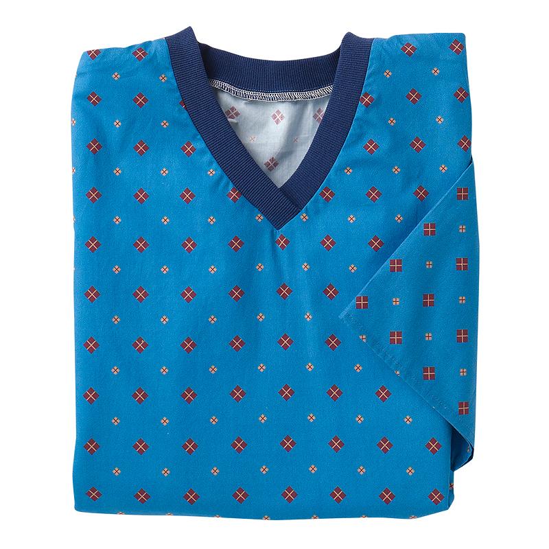 9b33e4a94b Silvert s Men s Open-Back Flannel Nightgown - Blue Diamond - XL ...