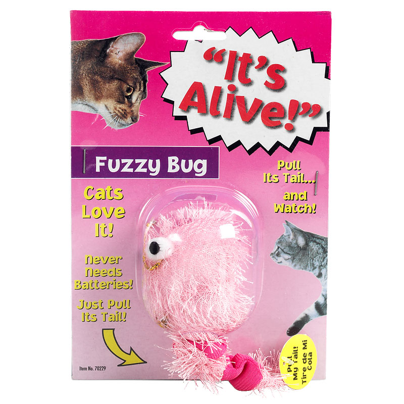 Fuzzy Vibrating Bug Cat Toy - Assorted