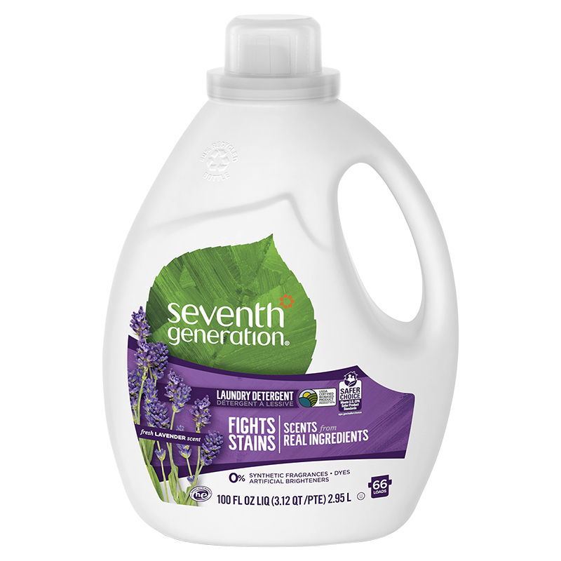 Seventh Generation Natural 2X Concentrated HE Laundry Detergent - Blue Eucalyptus & Lavender - 2.95L/66 use