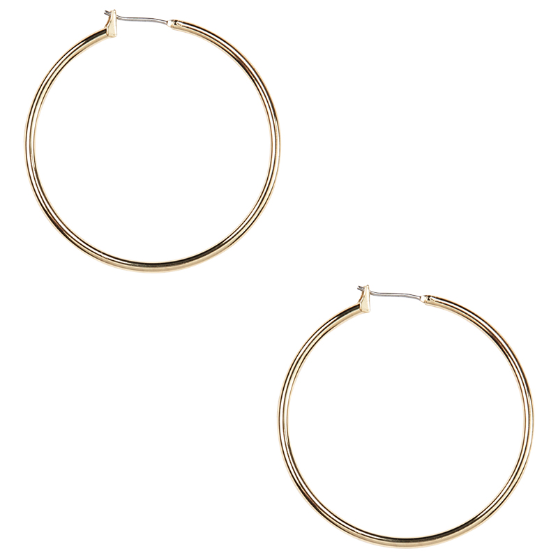 Anne Klein Large Snap-In Hoop Earrings