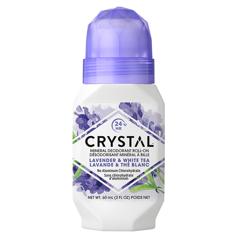 Crystal Essence Mineral Deodorant Roll-On - Lavender & White Tea - 50ml