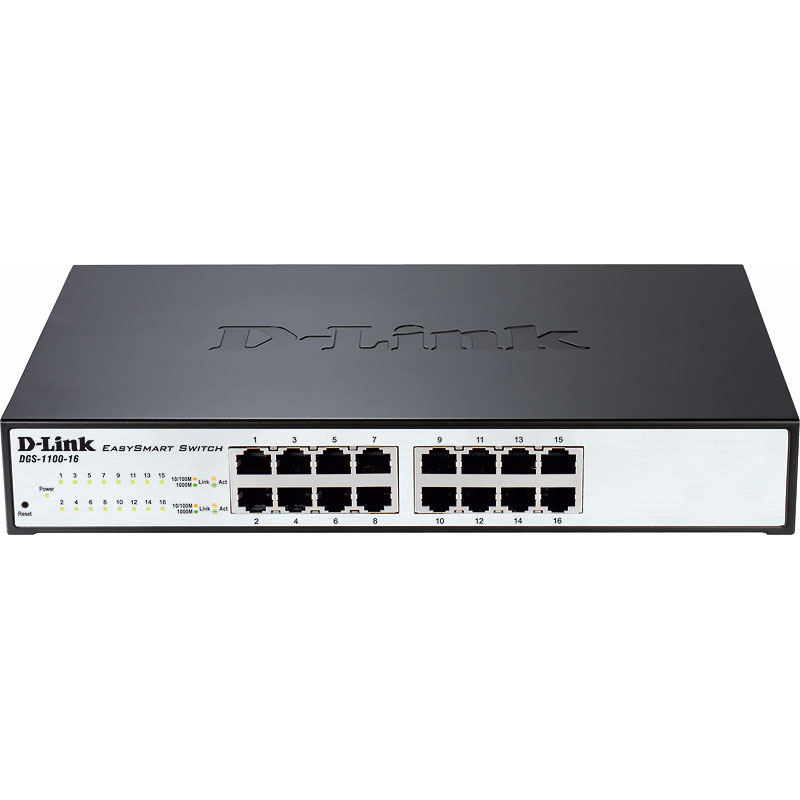 D-Link EasySmart 16-Port Gigabit Switch - DGS-1100-16