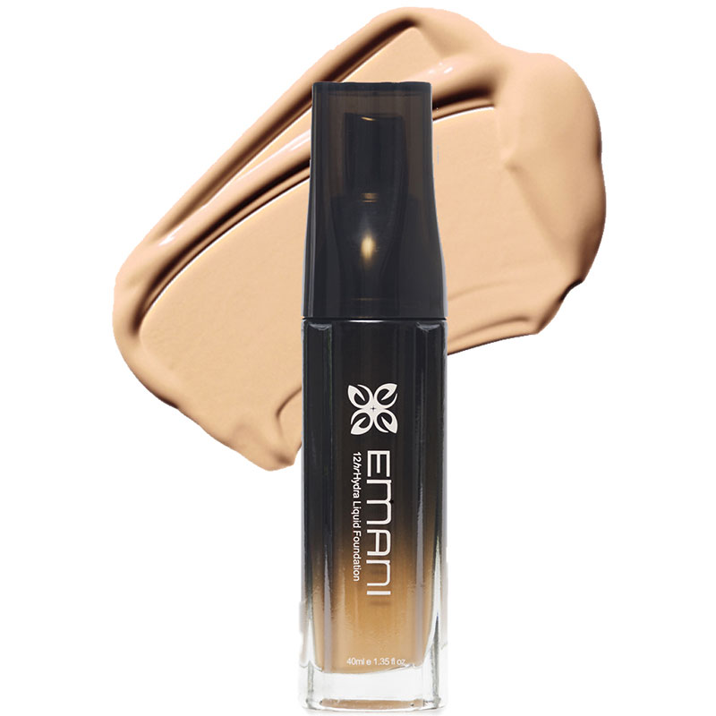 Emani Hydra Wear 12hr Liquid Foundation - 210 Natural Beige
