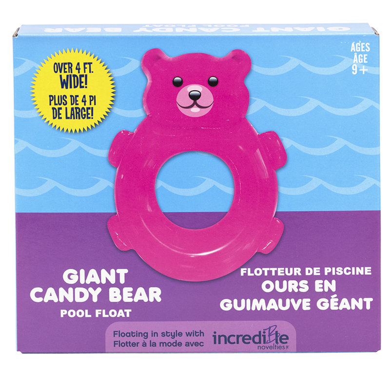 Giant Candy Bear Inflatable Pool Float - Pink
