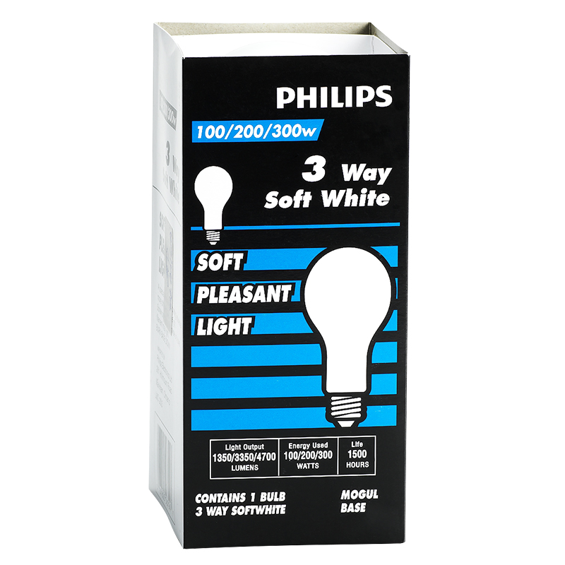 Philips 100/200/300W Trilight Light Bulb