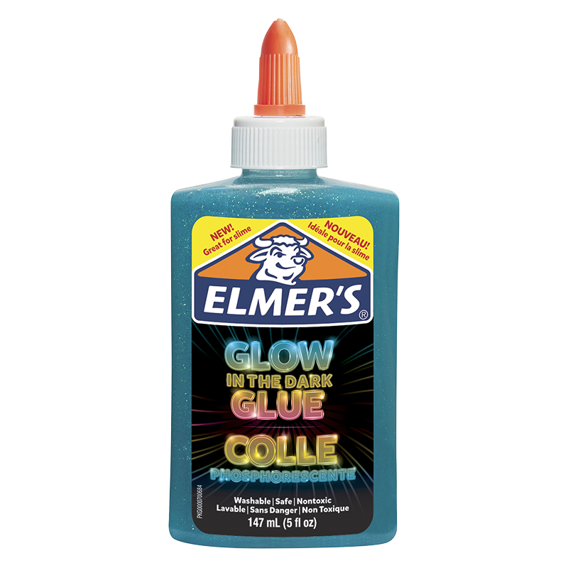 Elmer's Glow In The Dark Glue - Blue - 147ml