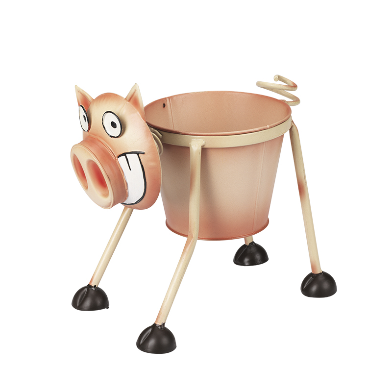 Hand Craft Metal Planter - Pig