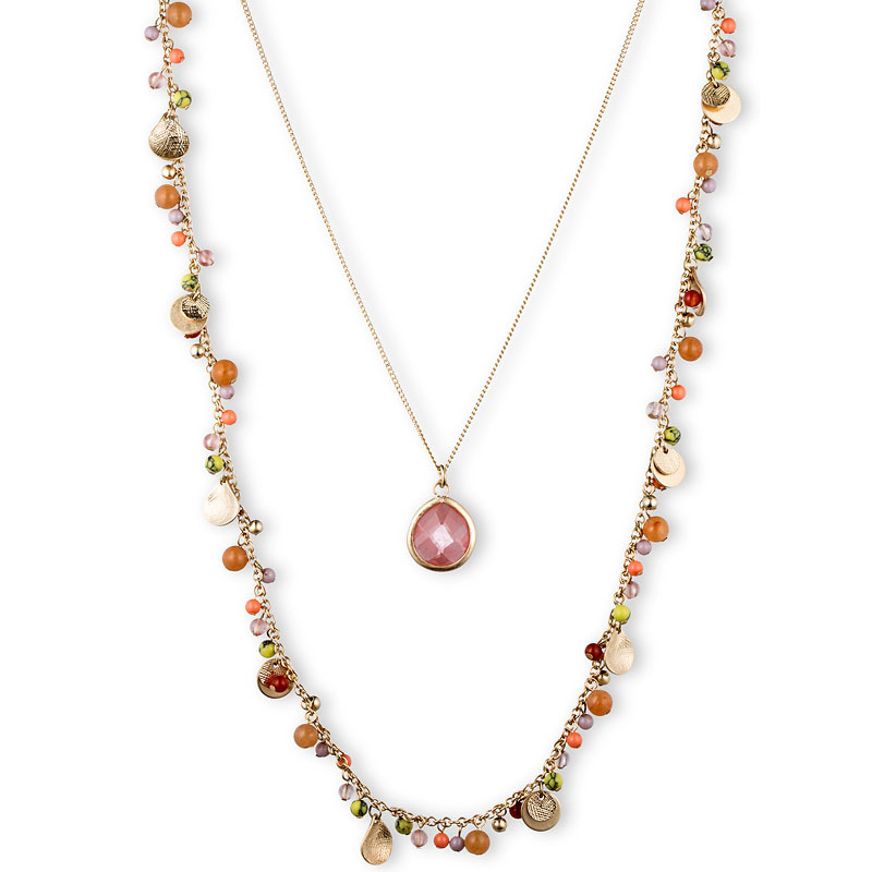 Lonna Lilly Multi 2-in-1 Shaky Necklace - Pink