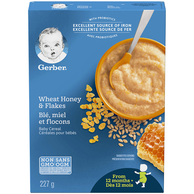 Nestle Baby Cereal - Wheat with Honey and Flakes - 227g