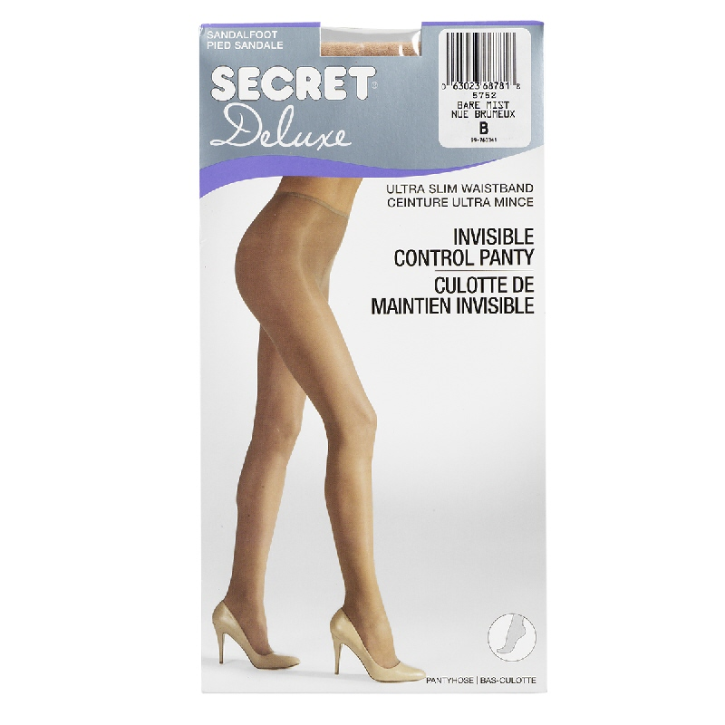 Secret Deluxe Reveal In-Control Pantyhose - B - Bare Mist