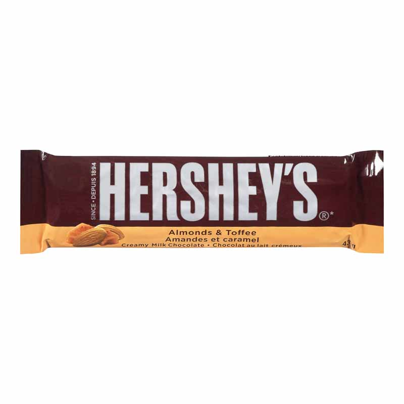 Hershey's Bar Almonds & Toffee - 43g