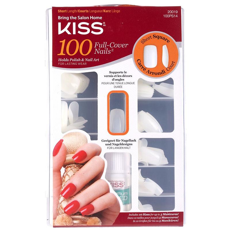 Kiss Full Cover Nails - Short Square - 100s | London Drugs