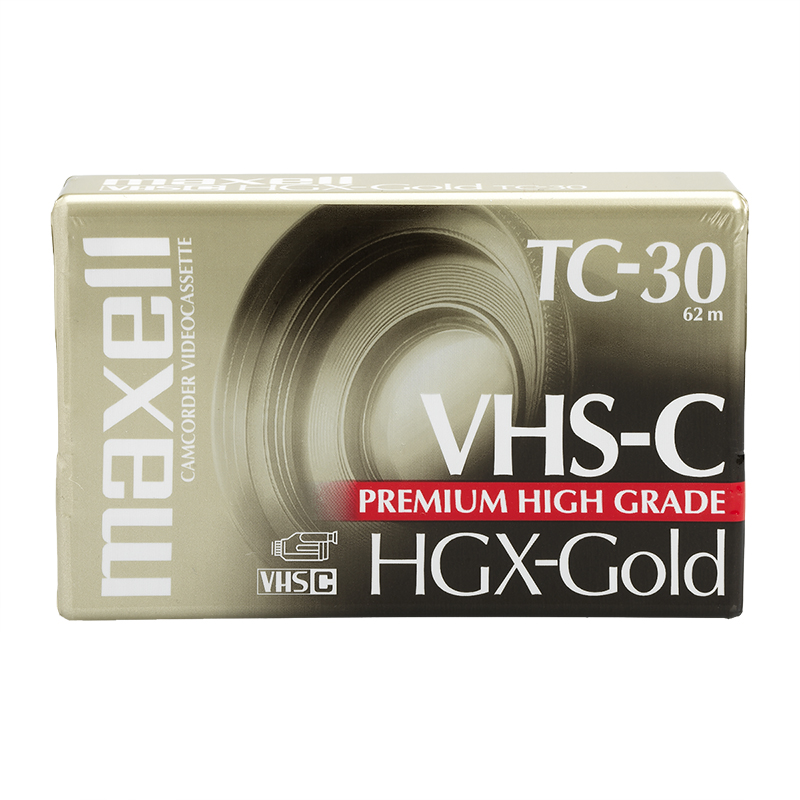 Maxell VHS-C HGX-Gold TC-30 Tape