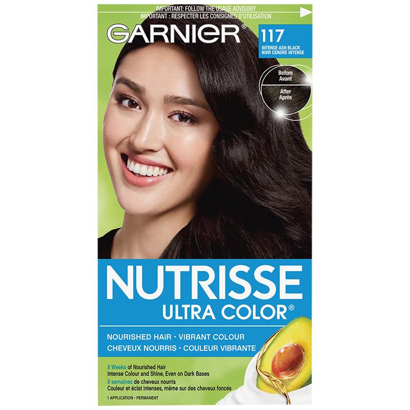 Garnier Nutrisse Ultra Color Permanent Hair Colour 117 Intense Ash Black