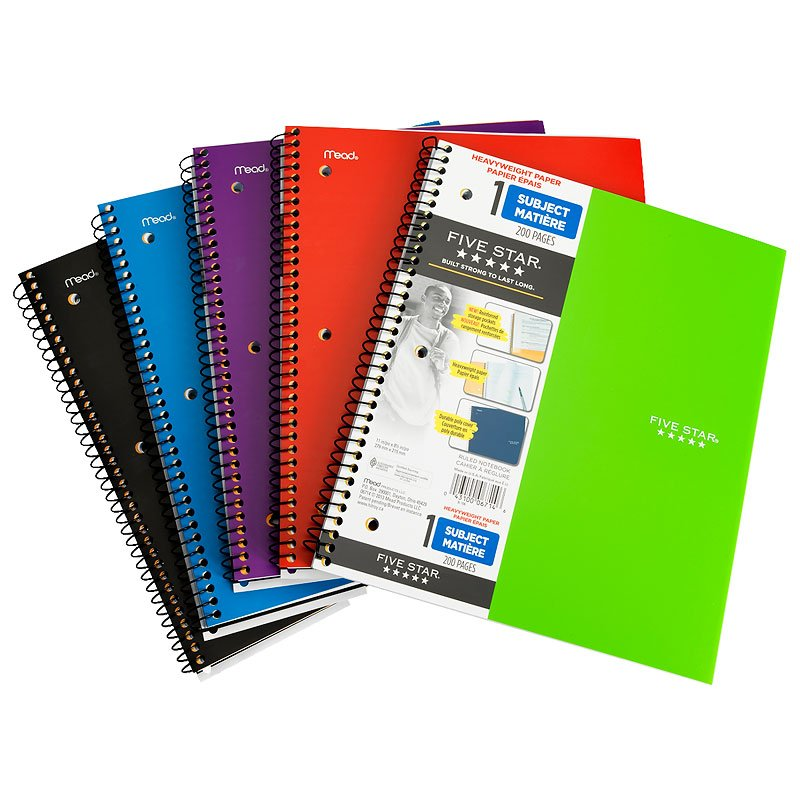 Five Star Heavyweight Notebook - Assorted