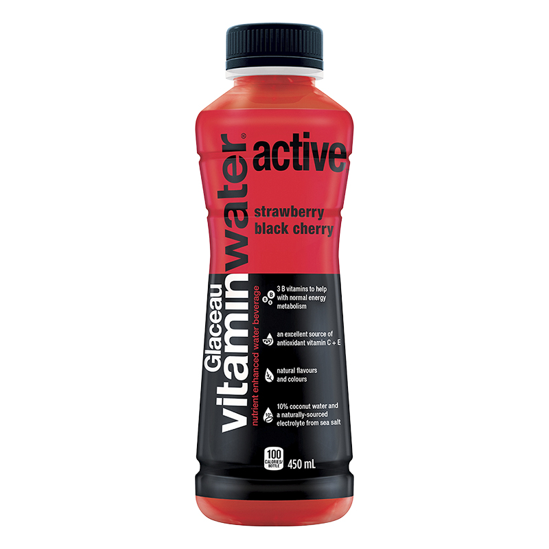 Glaceau Vitamin Water Active - Strawberry Black Cherry - 450ml