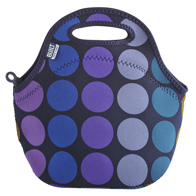 Built NY Gataway Lunch Bag - Plum Dots