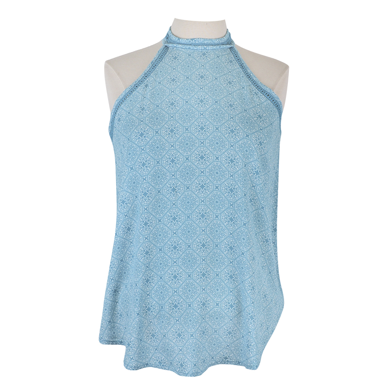 Lava Crochet Trim Tank Top - Aqua