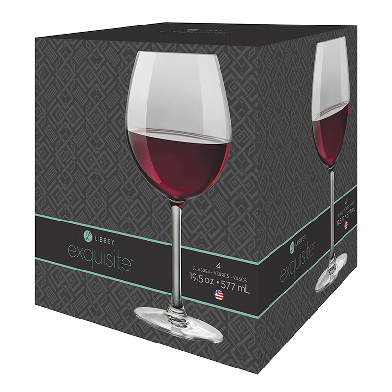 Libbey Exquisite Red Wine - Set of 4
