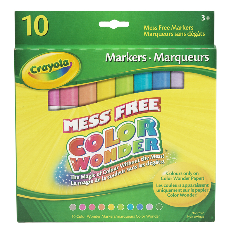 Crayola Colour Wonder Markers - 10 Markers
