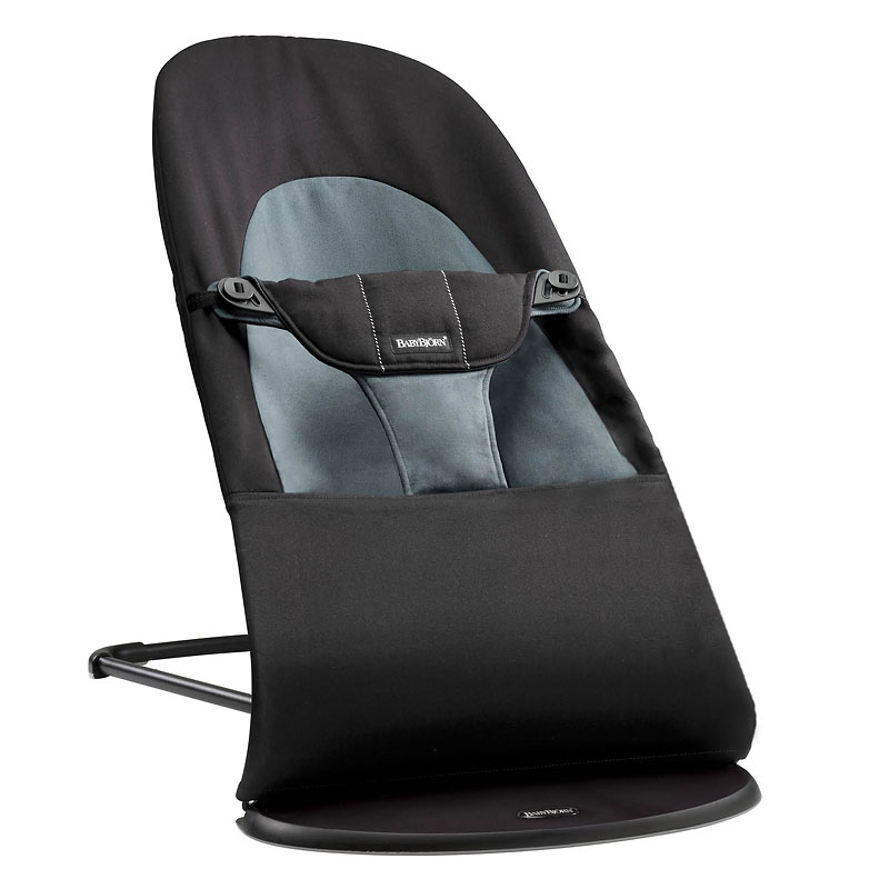 BabyBjorn Bouncer - Black/Gray Cotton - 005022US