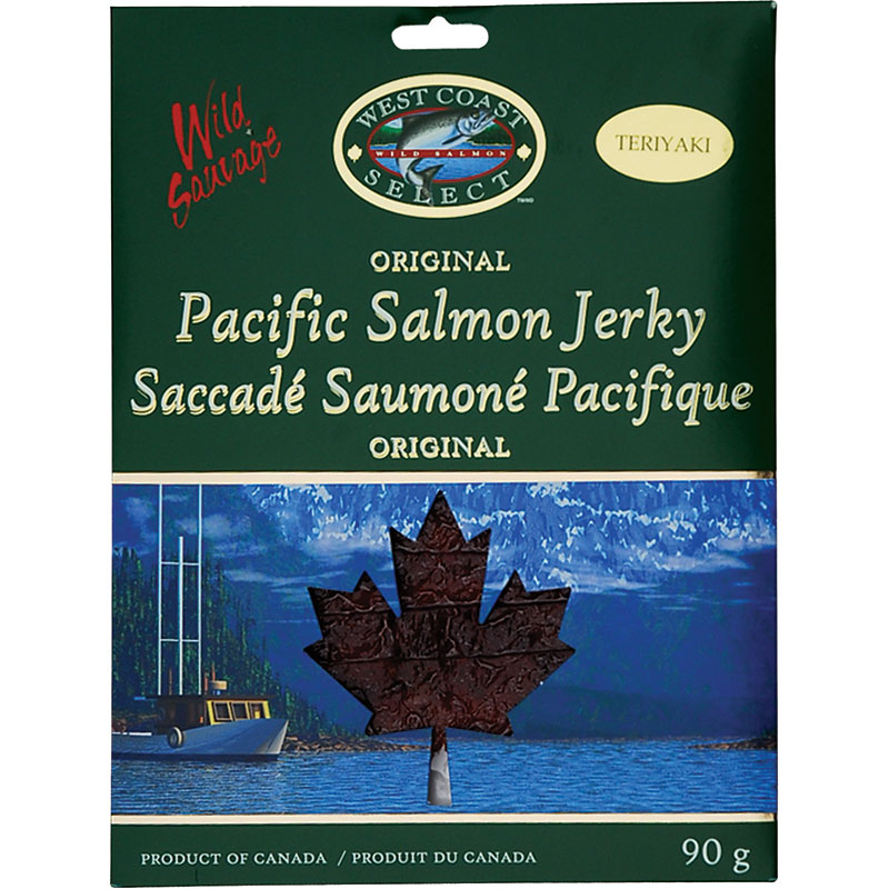 West Coast Select Pacific Salmon Jerky - Teriyaki - 90g