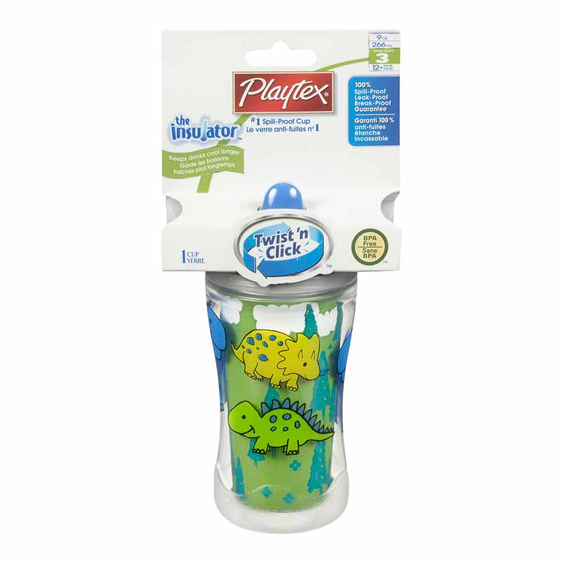 Playtex Insulator Spill-Proof Cup - 1 pack - Assorted Colours