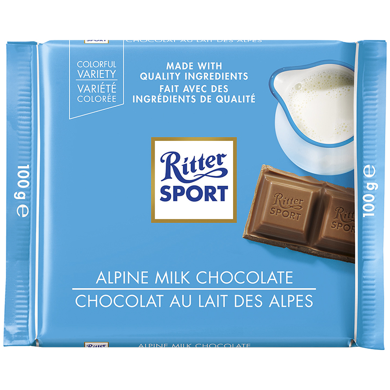 Ritter Sport - Alpine Milk Chocolate - 100g