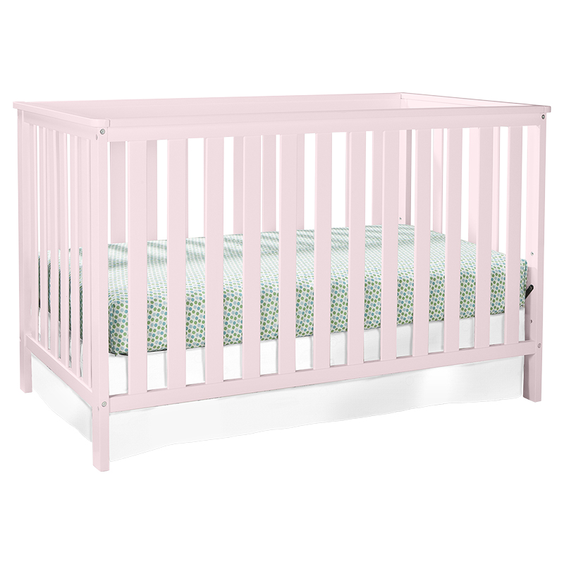 Storkcraft Rosland 3-in-1 Convertible Crib - Pastel Pink - 04510-23Q