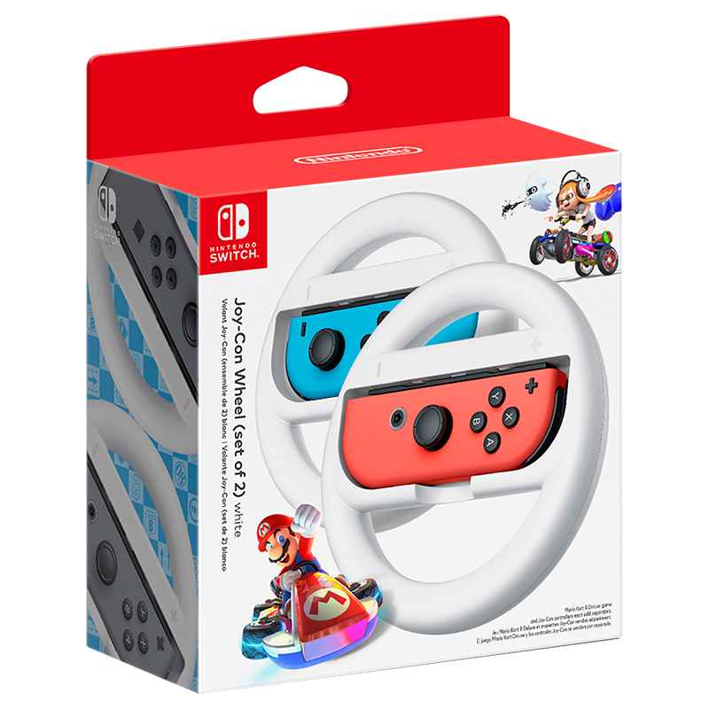 Nintendo Switch Joy-Con Wheel - White - 2 Pack - HACABG2AB