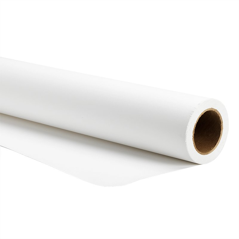 Savage Widetone Seamless Background Paper - Super White 1 - 53-inch x 36-feet