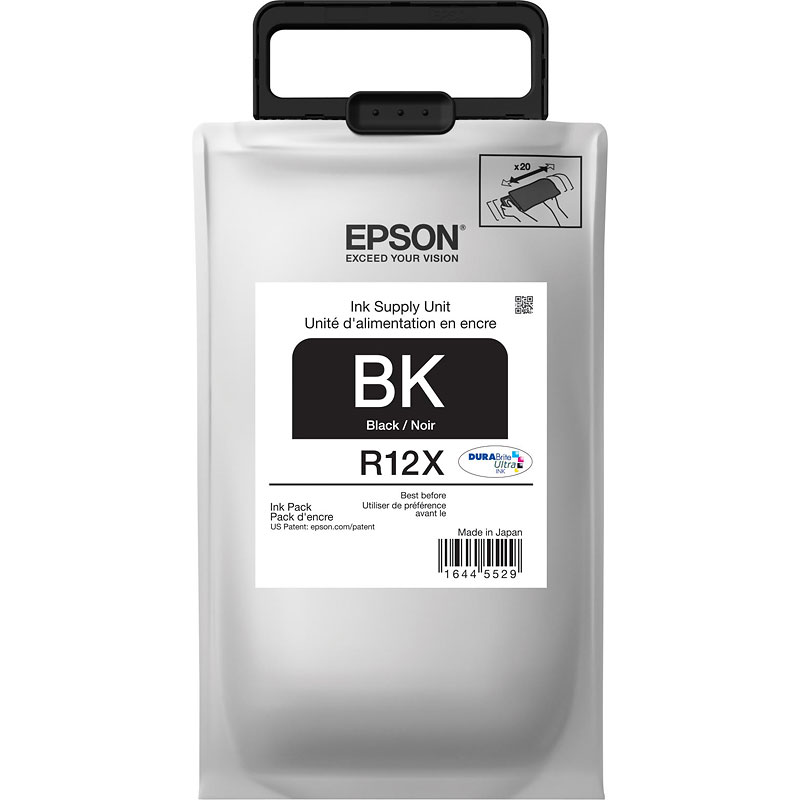 Epson R12X DuraBrite Ultra Ink Pack - Black - TR12X120